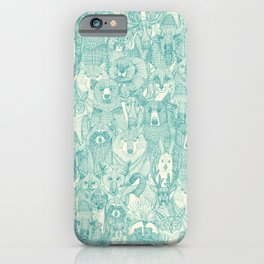 canadian animals teal pearl iPhone Case