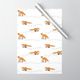 Fox Tracks Wrapping Paper