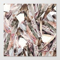 pattern Canvas Prints featuring Arnsdorf SS11 Crystal Pattern by RoAndCo