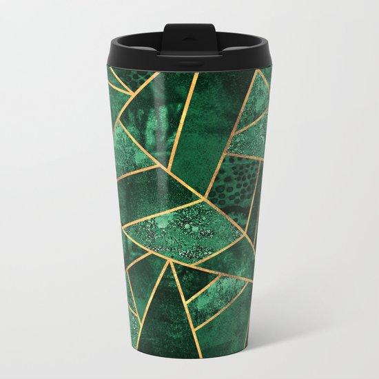 Deep Emerald Metal Travel Mug