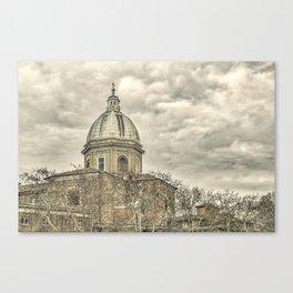 Rome Downtown Architecture Urban Scene Canvas Print