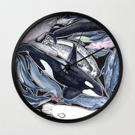 Dolphin, orca, beluga, narwhal & cie Wall Clock
