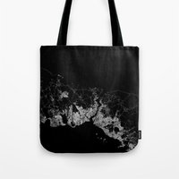 istanbul Tote Bags featuring Istanbul  by Line Line Lines