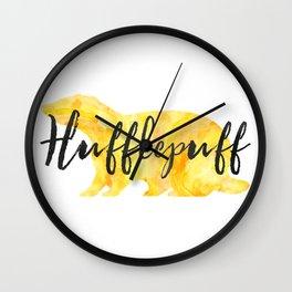 Hufflepuff Hogwarts House Pride Wall Clock