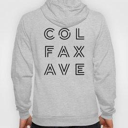 Colfax Ave Black Logo Hoody