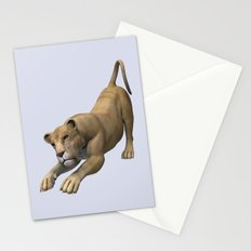 Stretching Lioness Stationery Cards