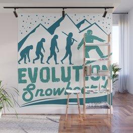 Evolution Snowboard Wall Mural