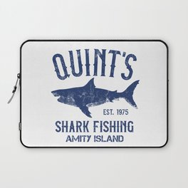 Quint's Shark Fishing - Amity Island Laptop Sleeve