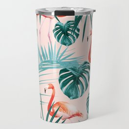 Tropical Flamingo Pattern #3 #tropical #decor #art #society6 Travel Mug