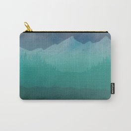 Ombre Mountainscape (Blue, Aqua) Carry-All Pouch