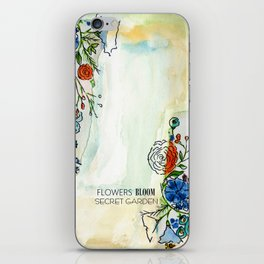 Flowers bloom Secret Garden iPhone Skin