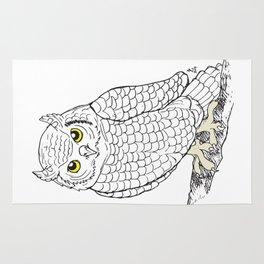 Cute Owl by Ines Zgonc Rug