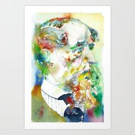 CHARLES DICKENS - watercolor portrait.2 Art Print