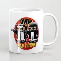tarantino Mugs featuring Owls Pulp Fiction by Lime