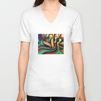 waterfall V-neck T-shirts featuring Waterfall by Graham Matthews