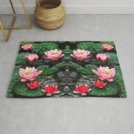 Mirrored Water Lilies Rug