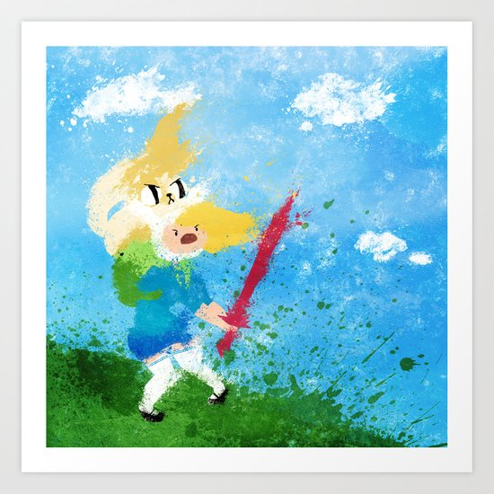 I'm all about swords! Art Print