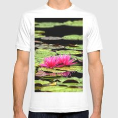 Lilies on Lake hope Mens Fitted Tee MEDIUM White