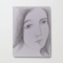 Face Sketch #10 Metal Print