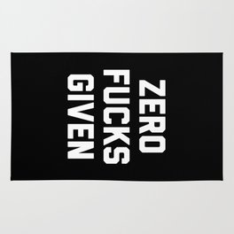 Zero F*cks Given Funny Quote Rug