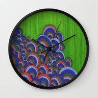 dr seuss Wall Clocks featuring Dr. Seuss 6 by Sarah J Bierman
