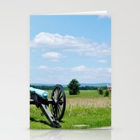 battlefield Stationery Cards featuring Gettysburg Battlefield 3 by Scenic Sights by Tara