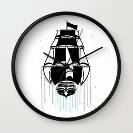 Pirate Ship [Watercolor] Wall Clock