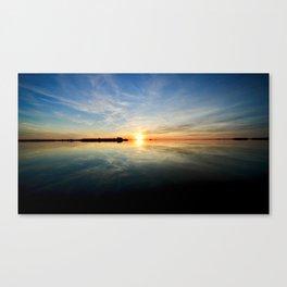 Sun On The Manokin Canvas Print