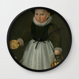 Portrait of a little Boy, Jacob Willemsz. Delff (I), 1581 Wall Clock