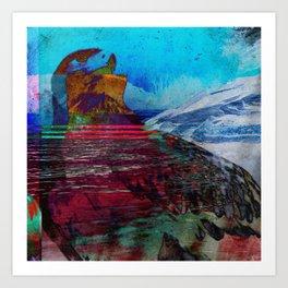 Freedom Among the Layers III Art Print