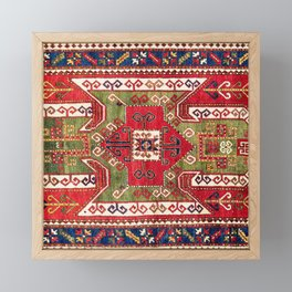 Sevan Kazak Southwest Caucasus Rug Print Framed Mini Art Print