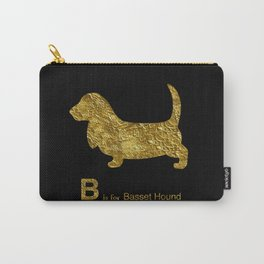 Basset Hound   Dog   gold foil Carry-All Pouch