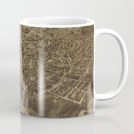 Vintage Pictorial Map of Middletown NY (1921) Coffee Mug