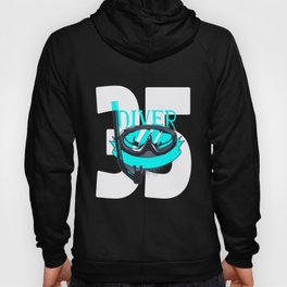 Scuba Diving 35th Birthday Diver 35 Years Gift Hoody