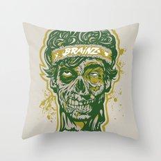 Brainz Zombie Print Throw Pillow