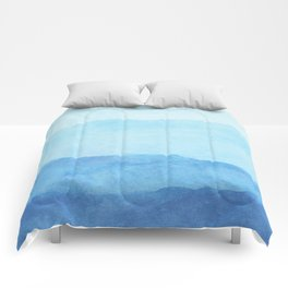 Ombre Waves in Blue Comforters