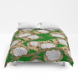Angry Owl Comforters