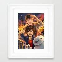 big hero 6 Framed Art Prints featuring Big hero 6 by keiden