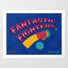 Fantastic Fighters Art Print