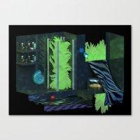 bathroom Canvas Prints featuring Bathroom by tvoneiro