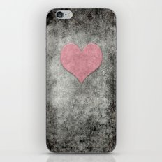 Valentines Grunge Love in Opal Pink iPhone & iPod Skin