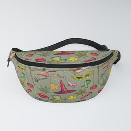 Wizard and Witch Pattern   Magic Sorcery Conjuring Fanny Pack