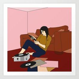 Un dimanche en musique Art Print