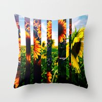 maryland Throw Pillows featuring Sunflowers in Maryland by kpatron