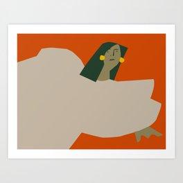 Girl in Repose Art Print