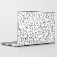 the wire Laptop & iPad Skins featuring Geometric Wire by Maiko Nagao
