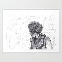 ben giles Art Prints featuring Ben by Vidility