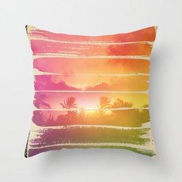 Sugar Beach Throw Pillow
