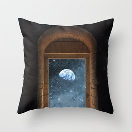 DOOR TO THE UNIVERSE Throw Pillow
