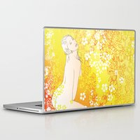 erotic Laptop & iPad Skins featuring Floral Beauty  by Stevyn Llewellyn